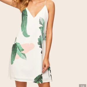 Shein Palm Leaf Printed Dress